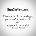 Fitness is like a marriage: it will only work if both partners are willing and eager to give 100% of their time, love, and energy on a daily basis. You cannot cheat on marriage and expect to work and you cannot cheat on fitness and expect it to work either! Go hard, go steady, and be consistent with the process and you will see results…happy Friday, All! #heandshefitness #marriedtofitness #fitnessgoals #fitnessquotes #fitnesscouples #fitnessjourney #fitnesstruth