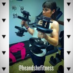 Early #wcw with #shefitness from arm day this previous Friday. Biceps are coming in nicely on all heads as shown here with the alternating dumbbell hammer curls. Guns of steel. What are you training today? #armday #hammercurls #gunsofsteel #dumbbellcurls #femalefitness
