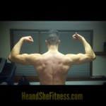 Rear delts and overall striations are coming in nicely with the traps. #heandshefitness did some back work tonight. Heavy volume and supersetting left us exhausted and ready for a re-feed. How are your goals progressing this week? Are you achieving what you set out to accomplish? Only two more days until the weekend: use the time wisely to chip away at your goals! #backspread #latspread #fitnessgoals #fitnessmotivation