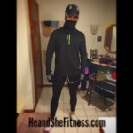 #Maskedrunner ready and waiting for #outdoorrunning action. What is your #runningoutfit like? Are you fashion conscious of do you really not care what people think of you as long as you put in the work? Obviously, #hefitness is the latter of those two categories as this looks less of a #runnersoutfit and more of a masked neighborhood creep. Happy Humpday! #heandshefitness #fitnesshumor #fitnessjourney