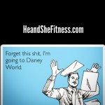 #heandshefitness will be saying this in exactly two weeks from today. Anyone else ready to throw their hands up in the air and take a vacation? Ready to go. Happy Friday, all. TGIF. #fitnesshumor #fitnessquotes #fitnessfunnies #letsgotodisney