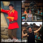 Cmon, #Guston. Throw up the double bicep for#heandshefitness why don't ya? Kidding around in #waltdisneyworld #fitnessfunnies #fitnesshumor #fitnesscouples