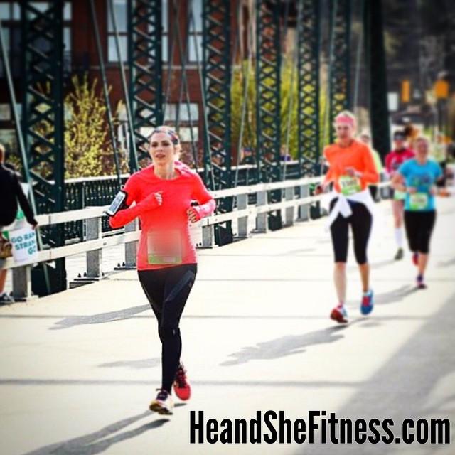 shefitness #leadingthepack during her first major #halfmarathon of the running year