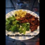 Who's ready for some #bourbonchicken or #chinesefood – made this wonderful #postworkoutdish for #heandshefitness last night. Wonderful and healthy. #fitnessfood #fitnessjourney