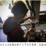 The blend-master hard at work, #shefitness – homemade #smoothies can be a delicious and nutritious treat to add to your diet protocol. Try some super greens, spinach, blueberries, bananas, etc for your own concoction. #heandshefitness #fitnesspro #fitnessfood