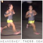 #shefitness is waaaay too fast for flash. #heandshefitness #fitnesspro #mizuno #runtowin #iloverunning
