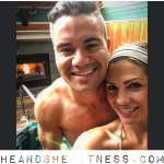 A little weekend #hottubbing for #heandshefitness – always take time from your busy schedule to relax and refresh. #fitcouples #hottub