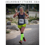 #shefitness has got the #runnersfloat going on in her latest #halfmarathon – just KILLIN it. #heandshefitness #fitnesspro #runtowin #mizuno #iloverunning