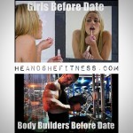 Yup. That about somes it up. The arm pump and the lip plump. 😎😂😂😂😂😎 _______________ #guysbeforeadate #girlsbeforeadate #datepreparation #heandshefitness #fitnessmemes #fitfunny
