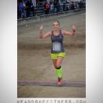 #shefitness crossing the finish line in style. #runnersfloat #runtowin #iloverunning #heandshefitness #fitnesspro #mizuno #mizunorunning