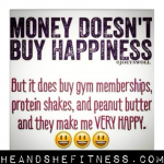 Oh yes indeed it is true. Money buys things that cause happiness! 😂😂😂😂😂 ____________ #heandshefitness #moneyhappy #happinessis #moneycantbuyhappiness #peanutbutter