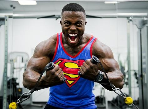 bodybuilder weight training