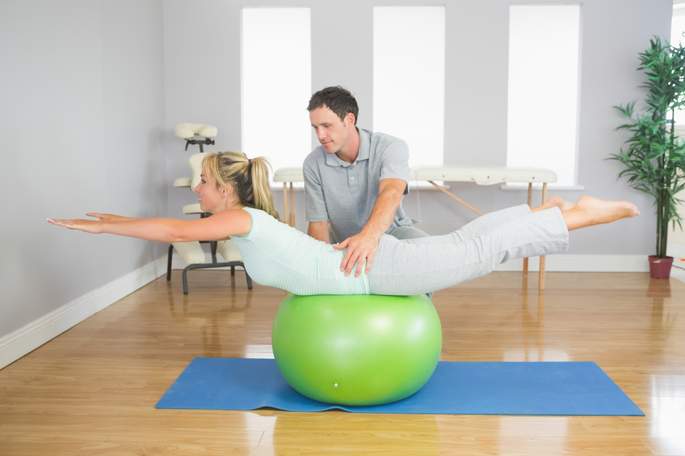 swiss ball personal trainer