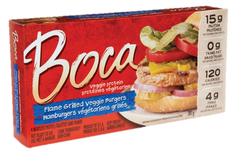 boca flame grilled burgers