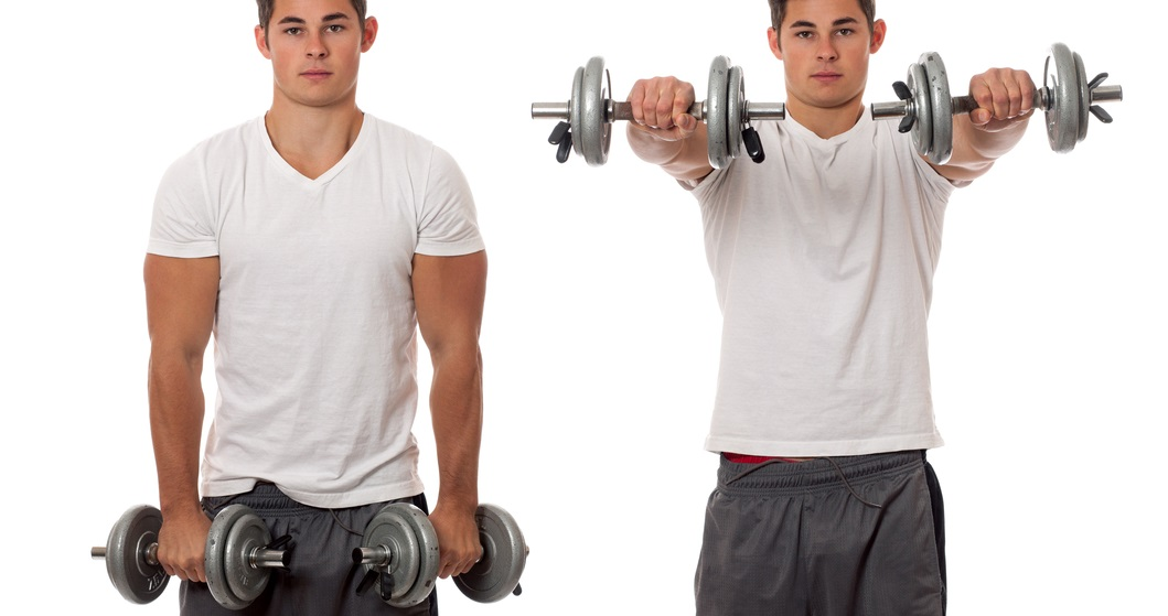 front dumbbell raise lateral