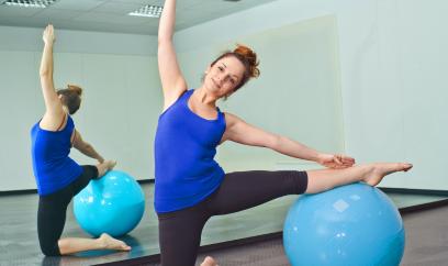 yoga gym stretch