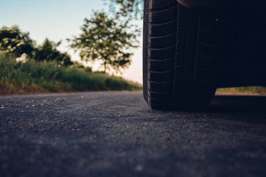 road car tire medium driving distance