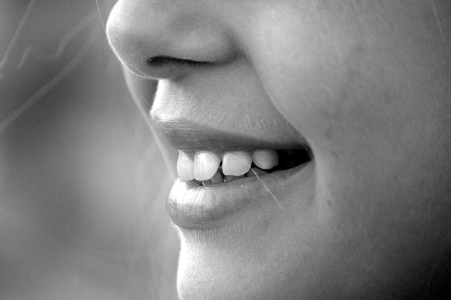 smile floss teeth laugh