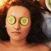 women girl beauty mask