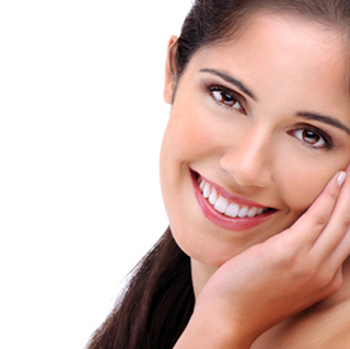 healthy smile teeth woman