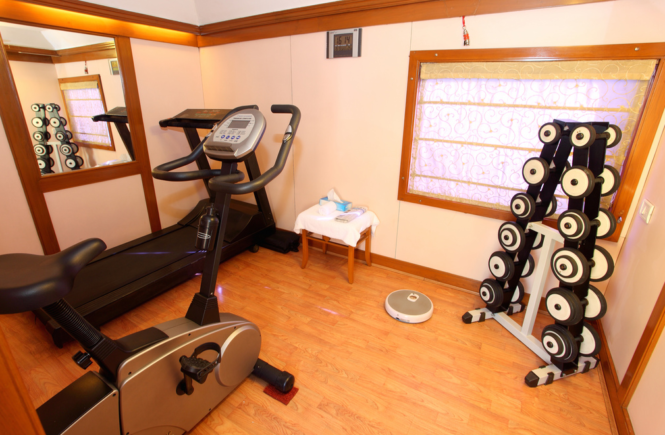 Gym Space in home hardwood