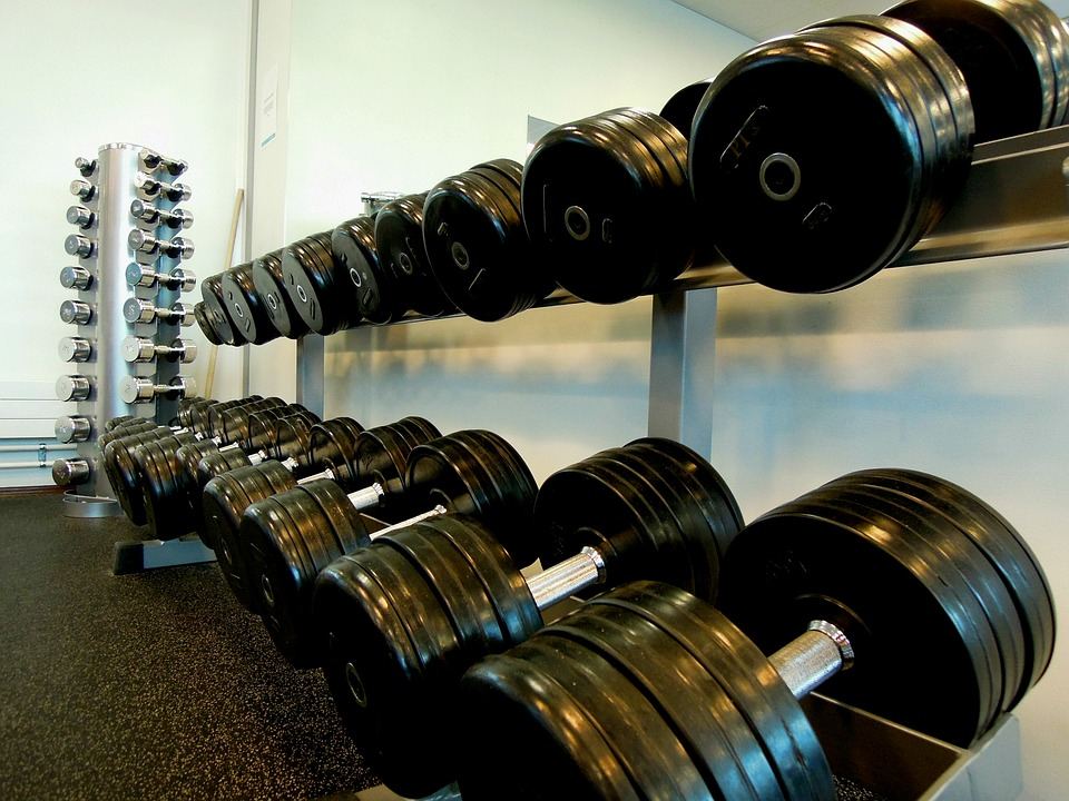 Gym Space re-rack dumbbell weights