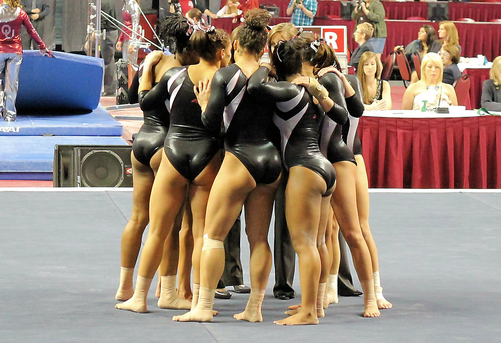 gymnastics winner teammates