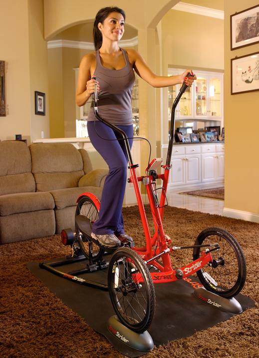 Gym Space woman on elliptical