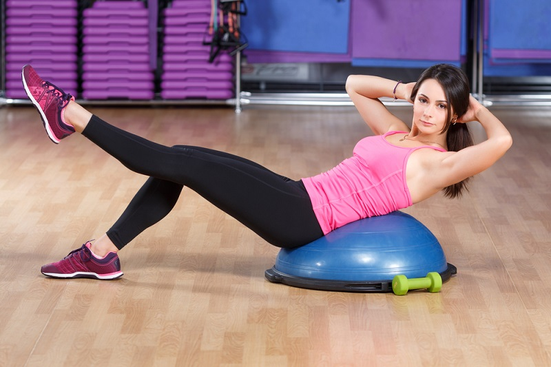 clinical pilates bosu ball abs