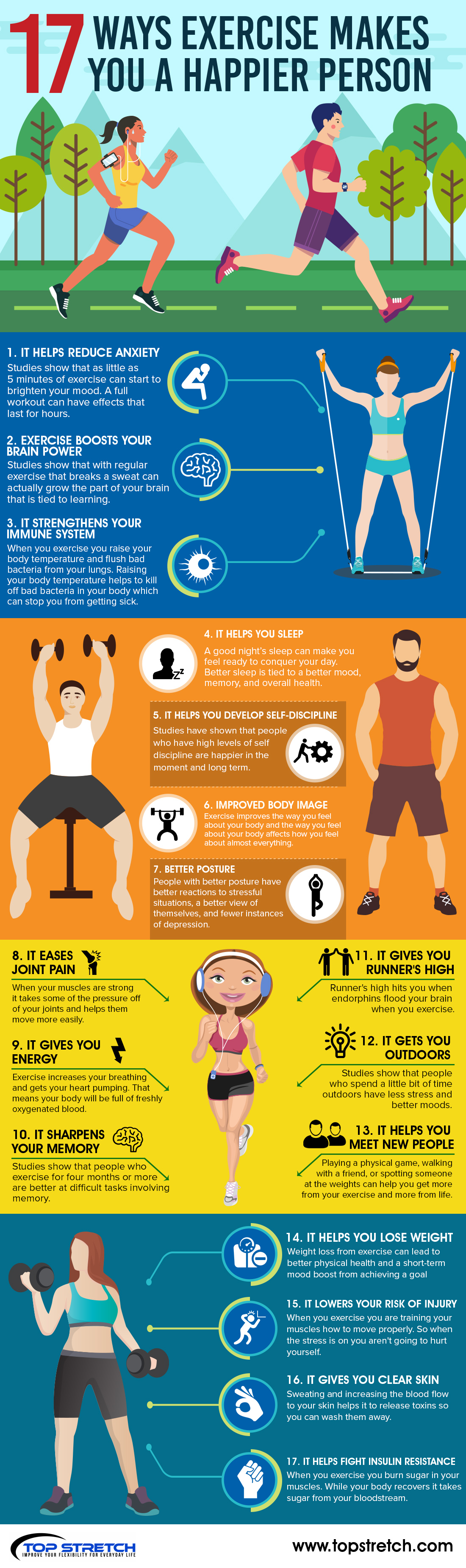 natural anxiety reducer exercise infographic