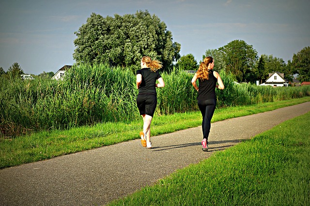 Are You Healthy running girls in black