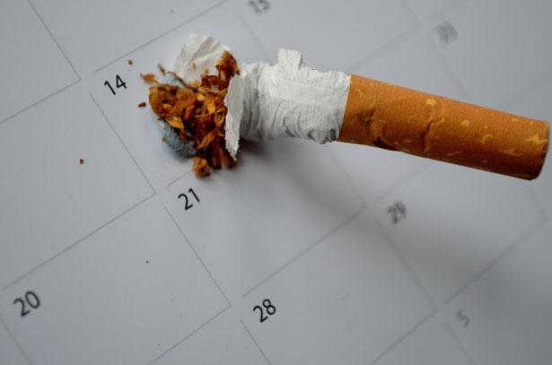 Smoking Habit cigarette butt