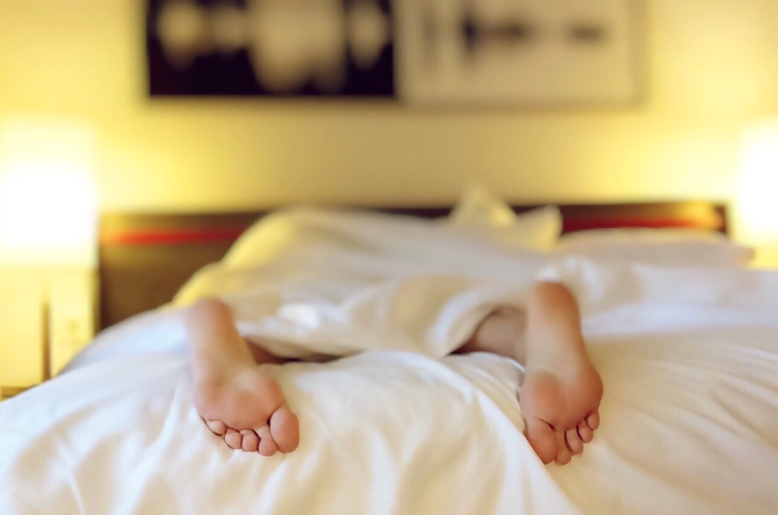 Natural Products person sleeping on the bed