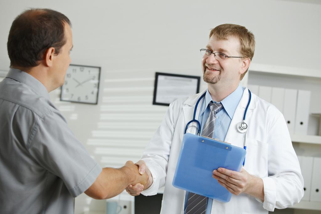 DIY Health Check shake doctor hand