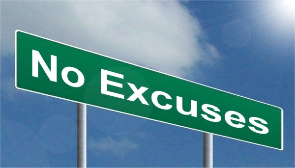 Fun Side Of Fitness no excuses sign