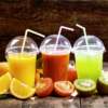 Detoxing diet fruit smoothies colorful