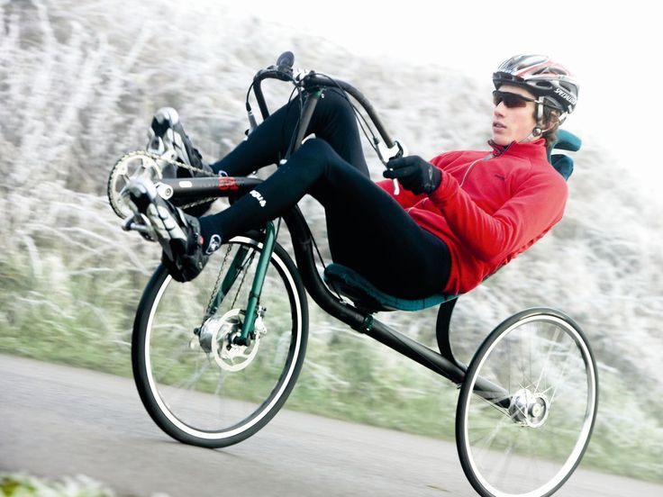 recumbent bike man on bike