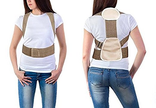 Posture Corrector white shirt woman back