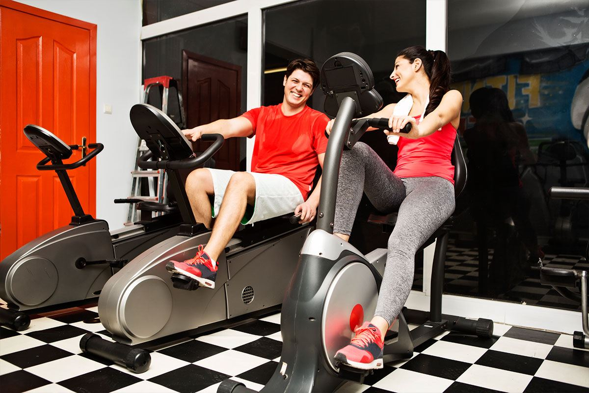 recumbent bike couple riding together