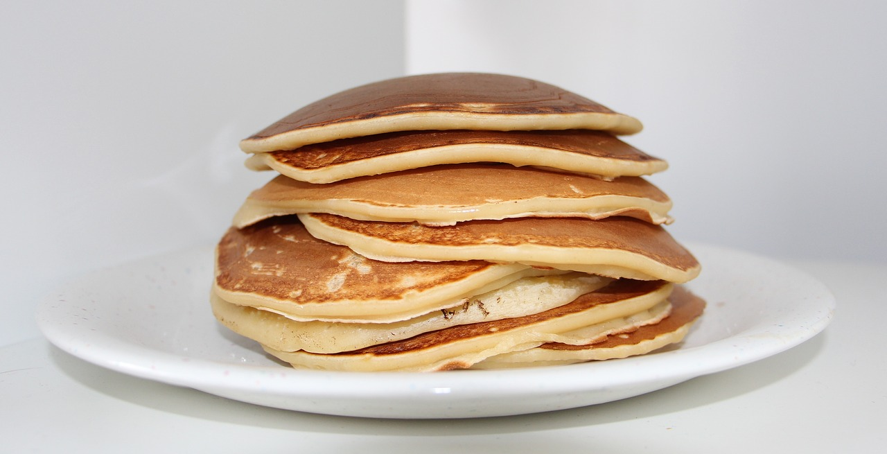 Lose Weight stack of pancakes