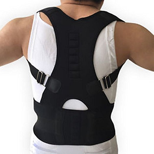 Posture Corrector man with white shirt