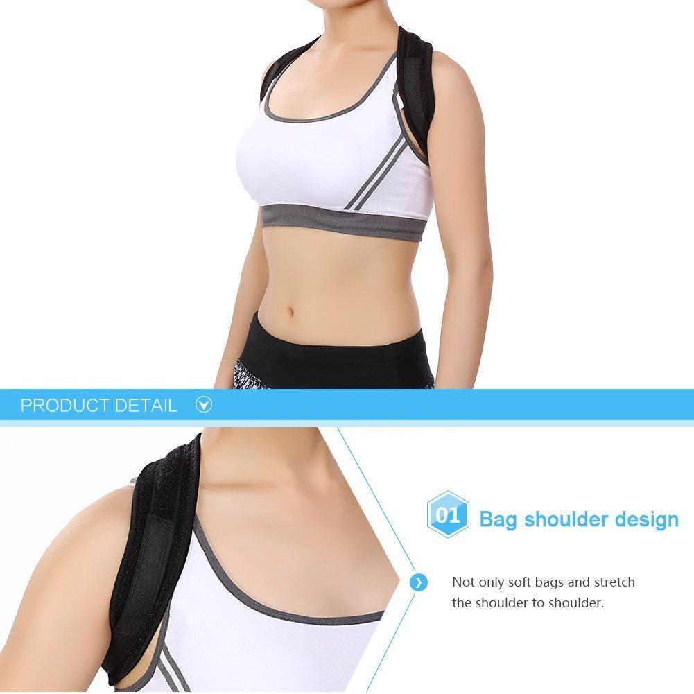 Posture Corrector woman white sports bra