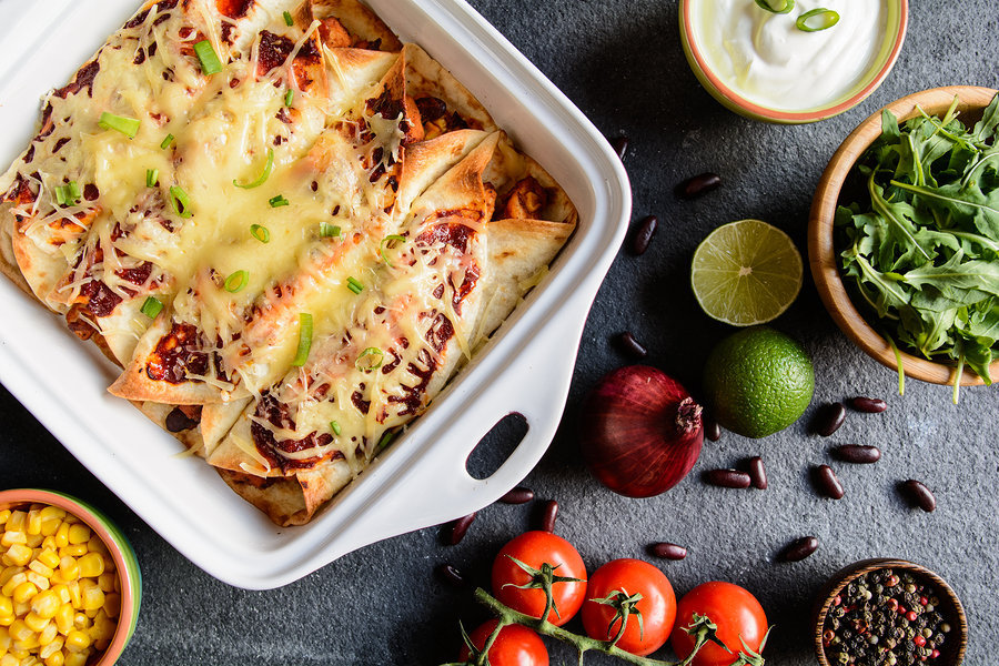 Weight Loss Butternut Squash Enchiladas recipe