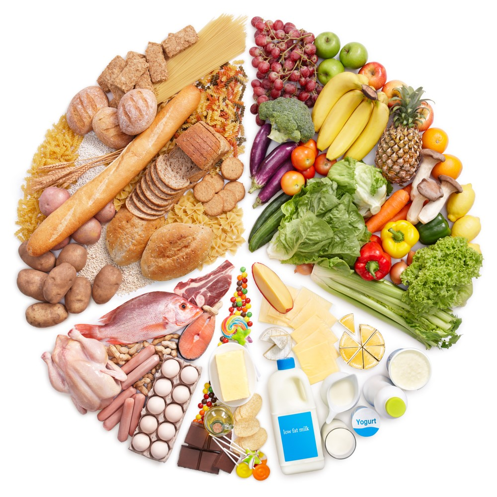 Superfoods Energy vegetables and fruit wheel