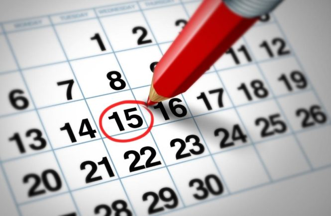 Start Exercising pencil circling date on calendar