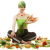 diet safely woman with vegetables