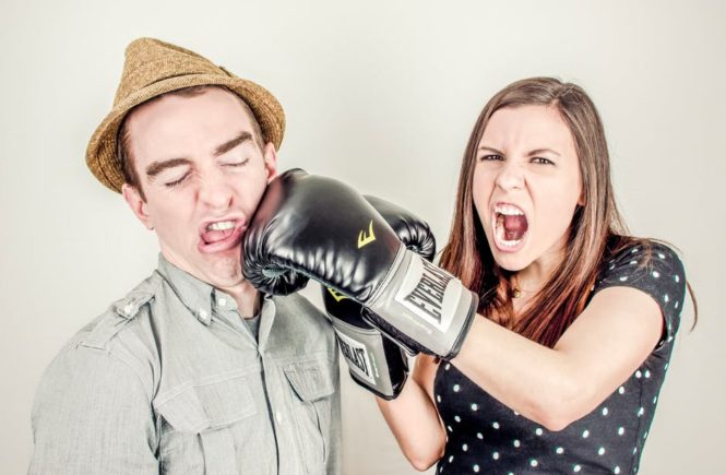 Chronic Pain woman punching man