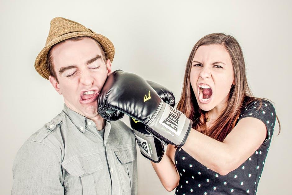 Chronic Pain woman punching man