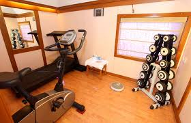 home gym and workout space