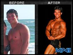 Gym for Your Workout before and after bodybuilder